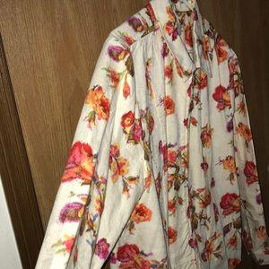 Floral CJ Banks X Jacket Zip Up Soft Lightweight